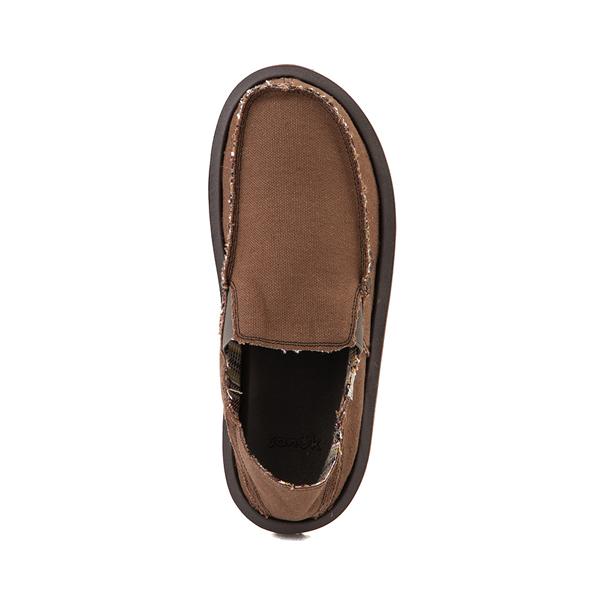alternate view Mens Sanuk Vagabond Hemp Slip On Casual Shoe - BrownALT2