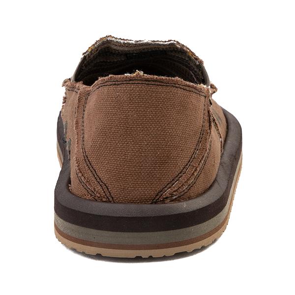 alternate view Mens Sanuk Vagabond Hemp Slip On Casual Shoe - BrownALT4