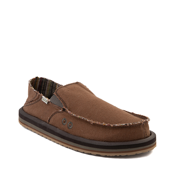 alternate view Mens Sanuk Vagabond Hemp Slip On Casual Shoe - BrownALT5