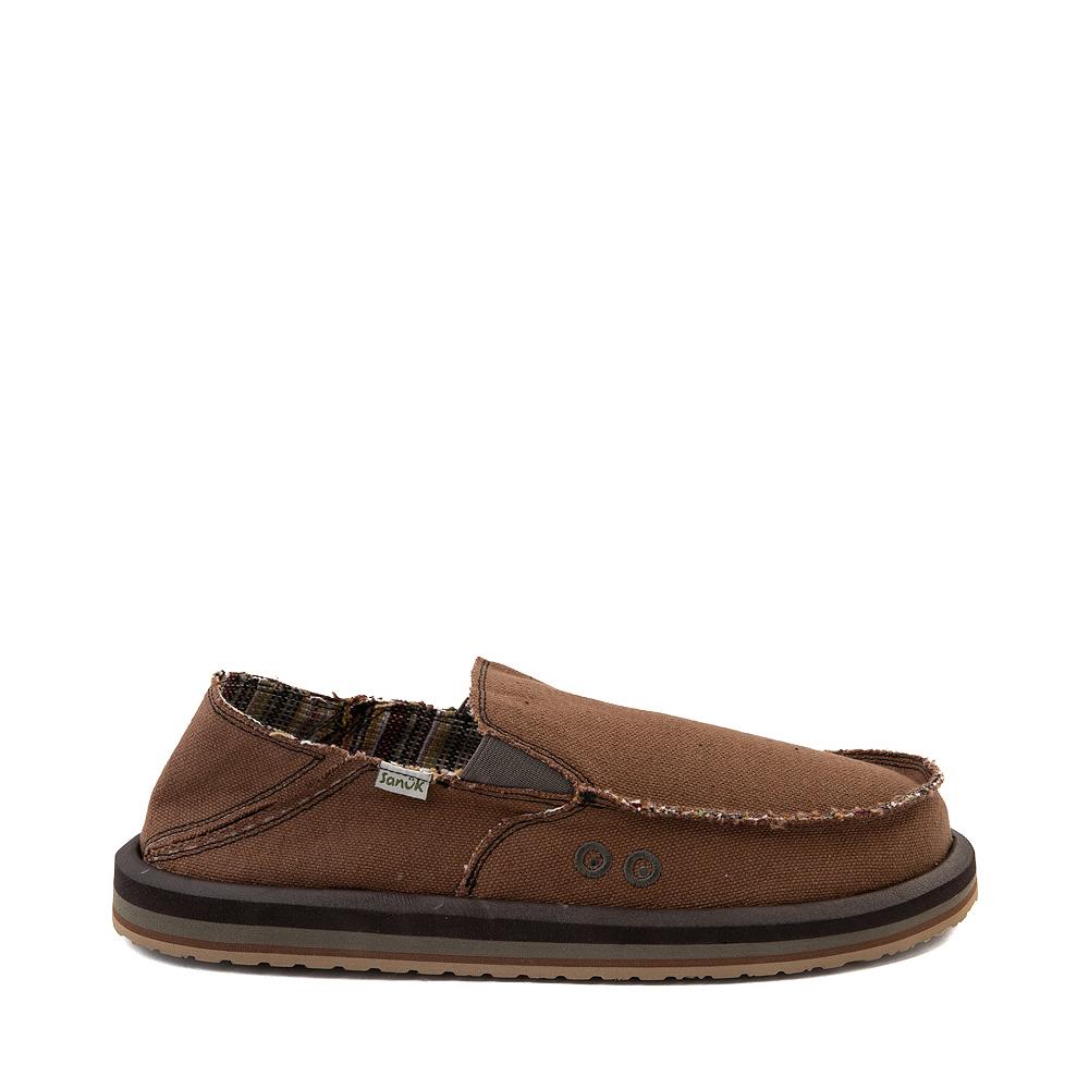 Mens Sanuk Vagabond Hemp Slip On Casual Shoe - Brown