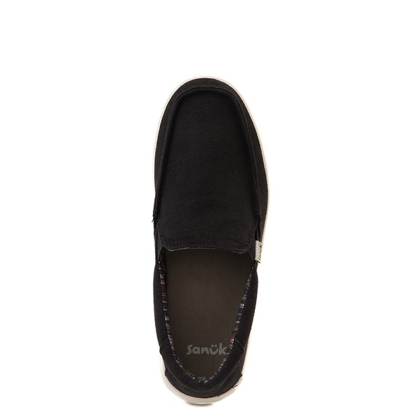 alternate view Mens Sanuk Sideline Hemp Casual Shoe - BlackALT2