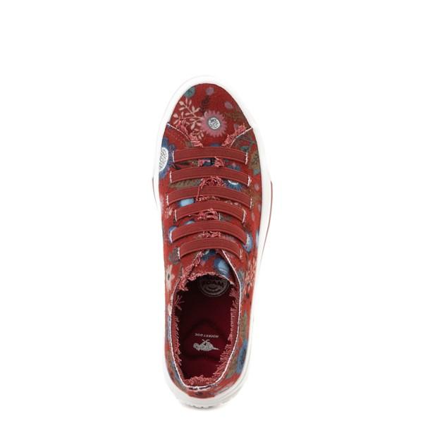 alternate view Womens Rocket Dog Jokes Slip On Sneaker - Red / FloralALT2