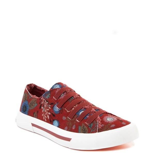 alternate view Womens Rocket Dog Jokes Slip On Sneaker - Red / FloralALT5