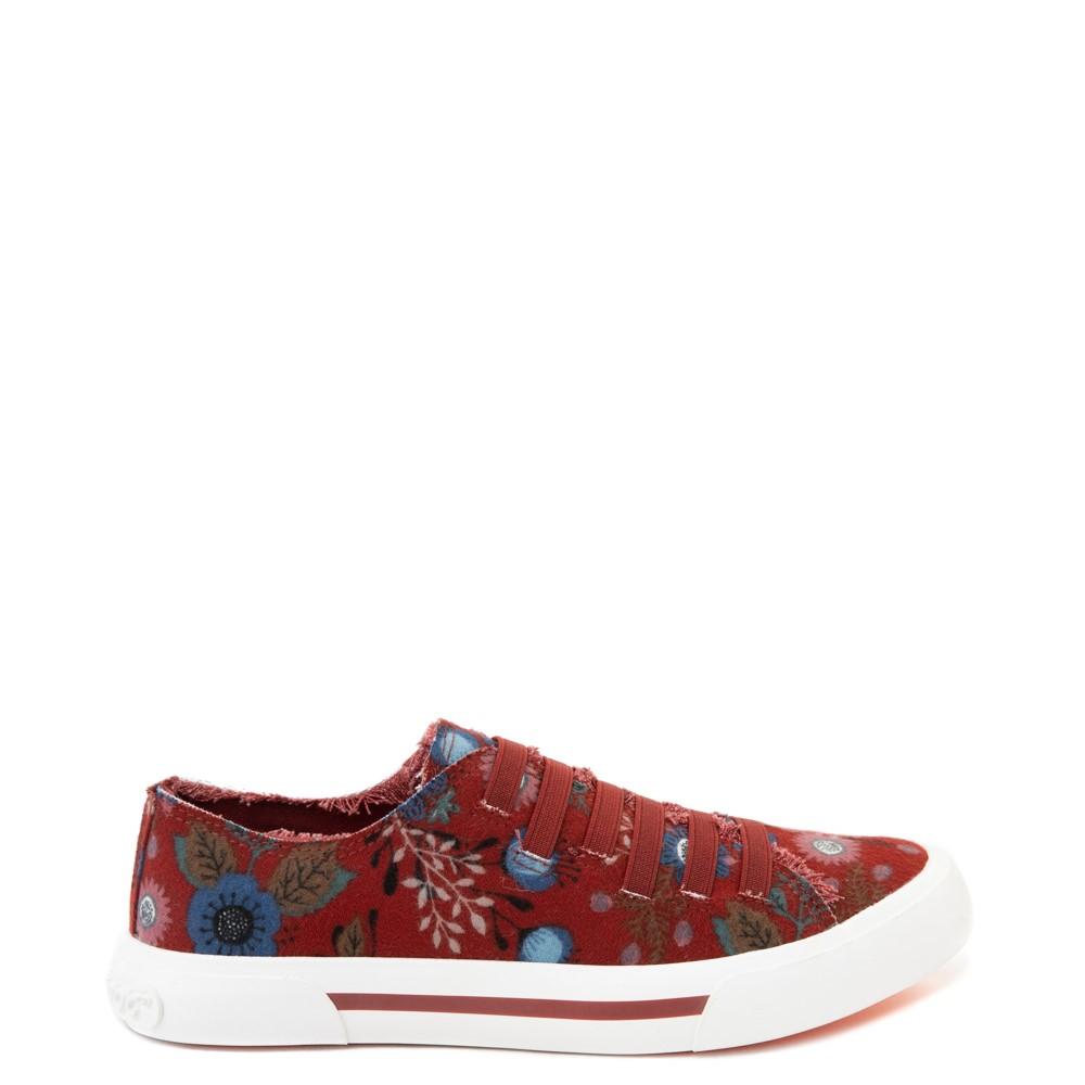Womens Rocket Dog Jokes Slip On Sneaker - Red / Floral