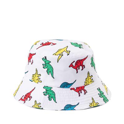 Alternate view of Dinosaur Bucket Hat - White