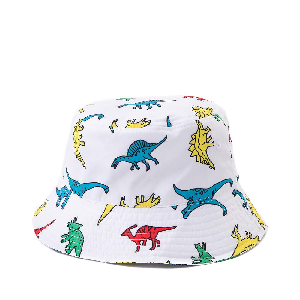 Dinosaur Bucket Hat - White