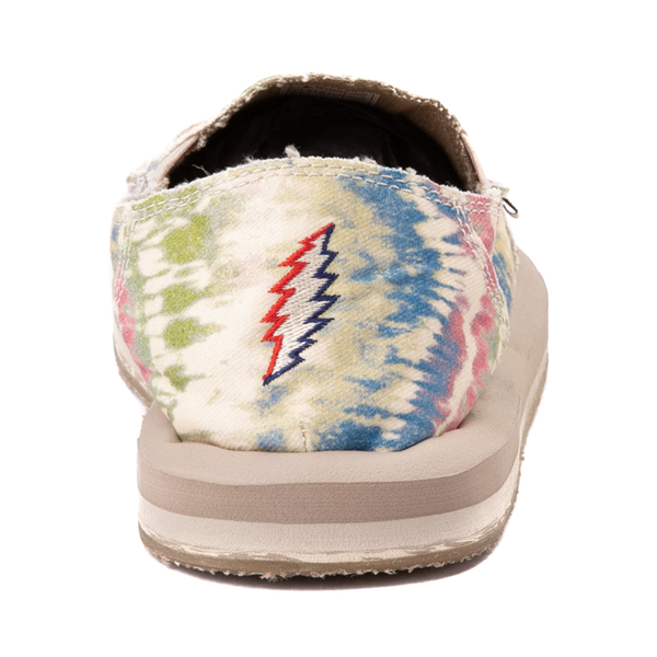 alternate view Womens Sanuk x Grateful Dead Donna ST Slip On Casual Shoe - Tie DyeALT4