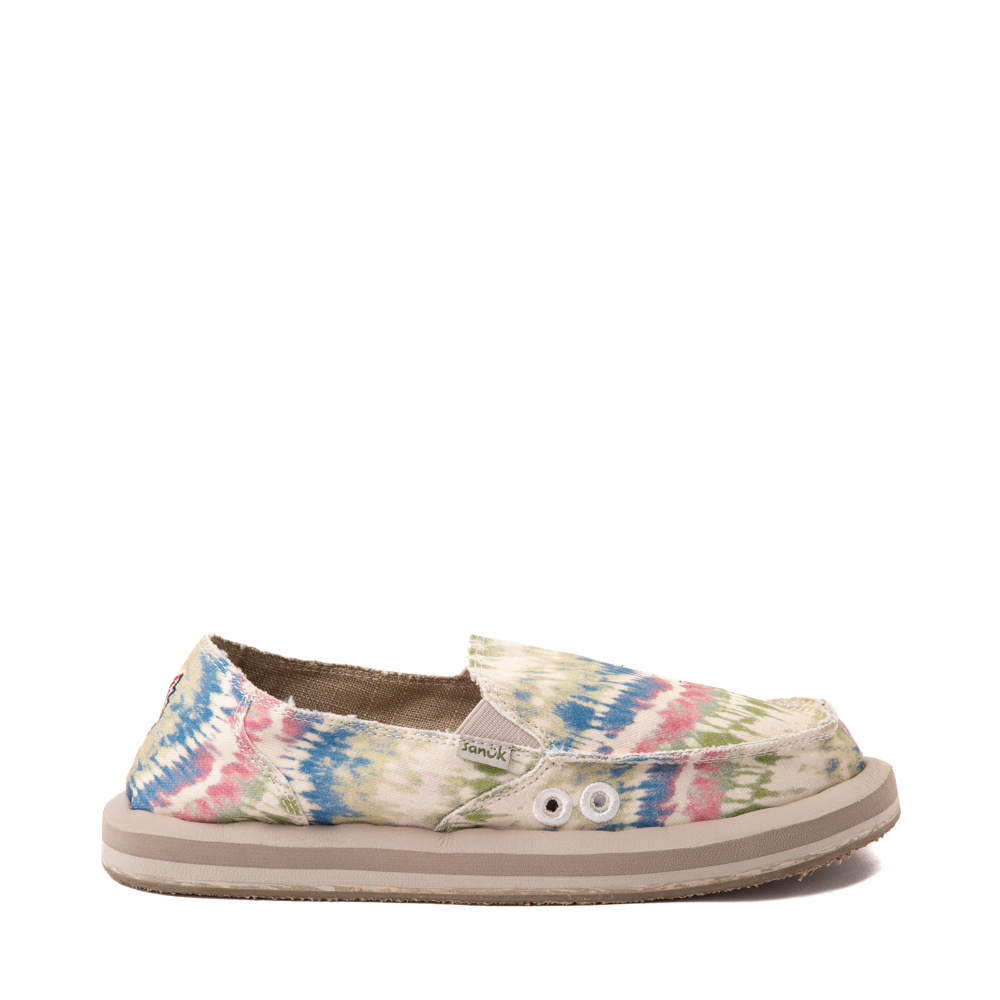 Womens Sanuk x Grateful Dead Donna ST Slip On Casual Shoe - Tie Dye