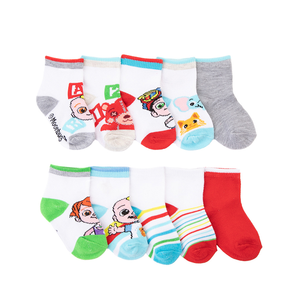 Main view of Cocomelon Footies 10 Pack - Toddler - White