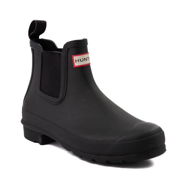 alternate view Womens Hunter Original Chelsea Rain Boot - BlackALT5