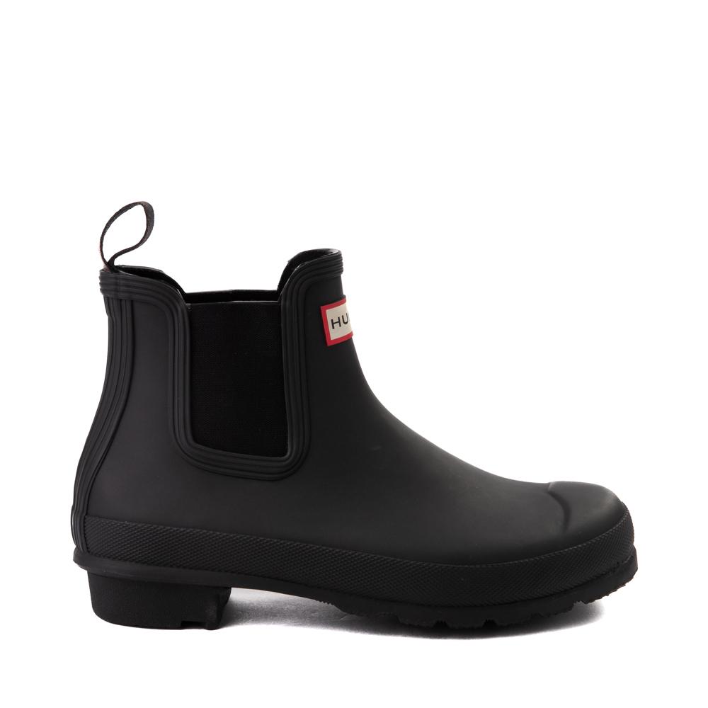 Womens Hunter Original Chelsea Rain Boot - Black