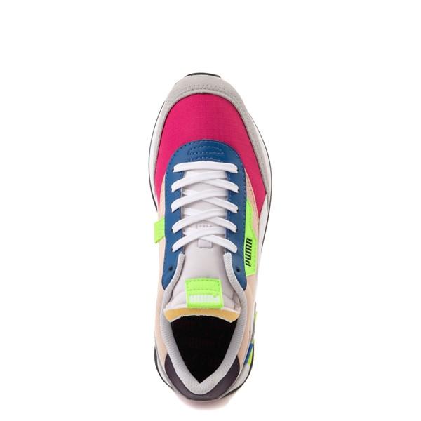 alternate view Womens Puma Future Rider Play On Athletic Shoe - Purple / Pink / WhiteALT2