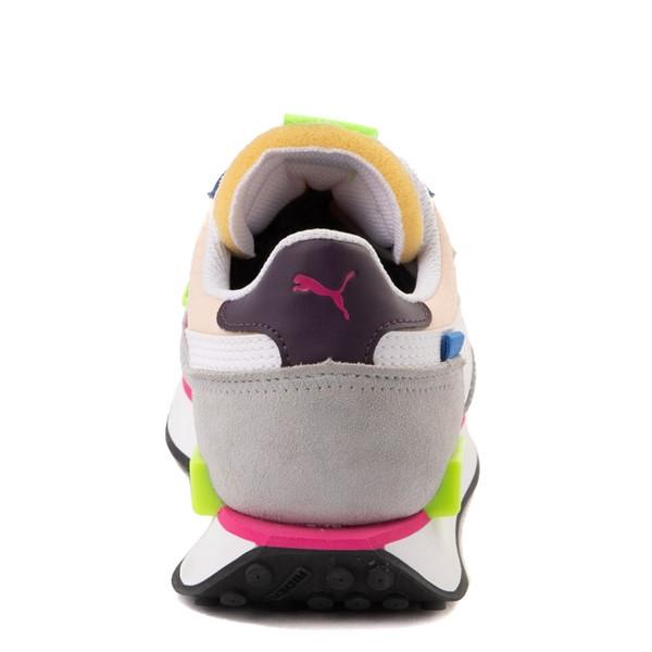 alternate view Womens Puma Future Rider Play On Athletic Shoe - Purple / Pink / WhiteALT4