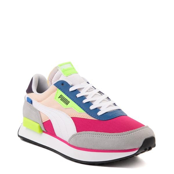 alternate view Womens Puma Future Rider Play On Athletic Shoe - Purple / Pink / WhiteALT5