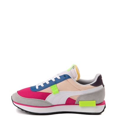 Alternate view of Womens Puma Future Rider Play On Athletic Shoe - Purple / Pink / White