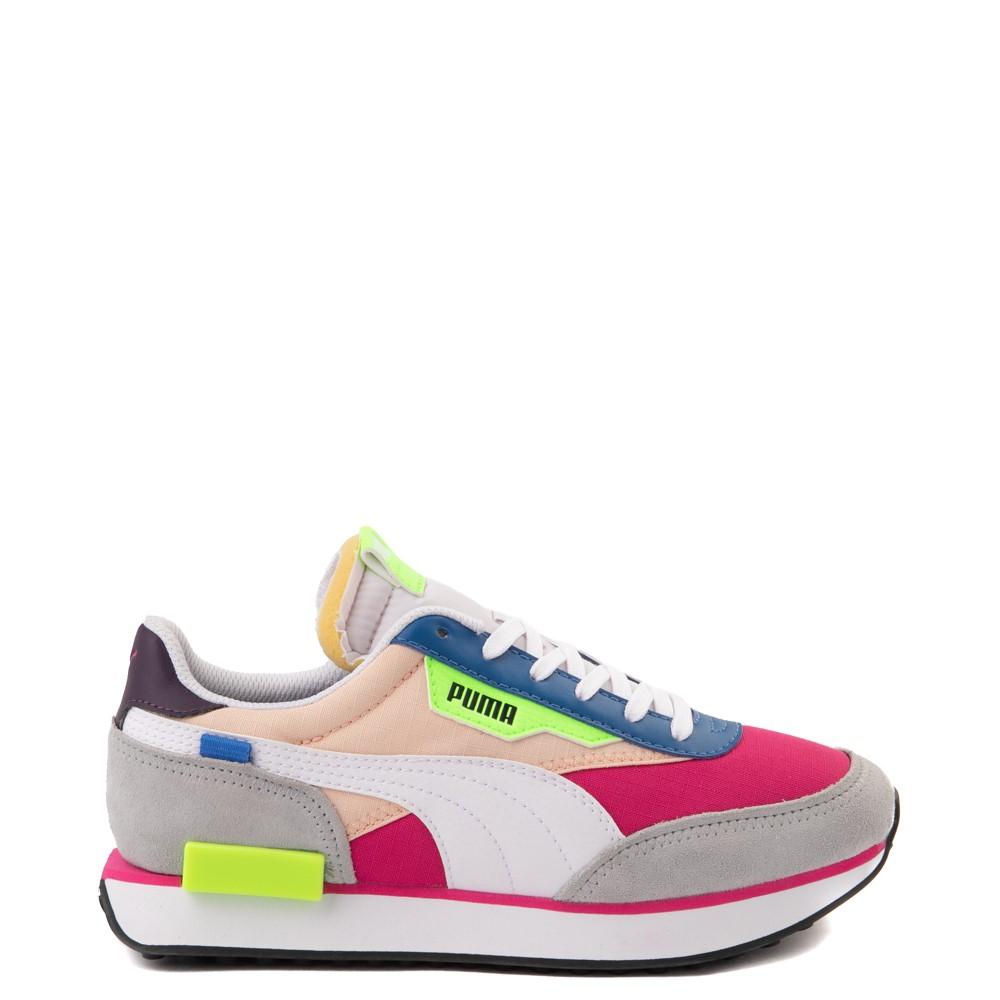 Womens Puma Future Rider Play On Athletic Shoe - Purple / Pink / White