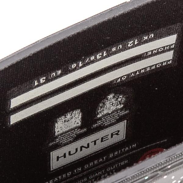 alternate view Hunter Original Tall Giant Glitter Rain Boot - Little Kid / Big Kid - BlackALT4C