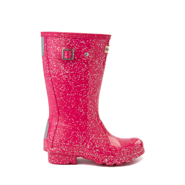 Main view of Hunter Original Tall Giant Glitter Rain Boot - Little Kid / Big Kid - Thrift Pink