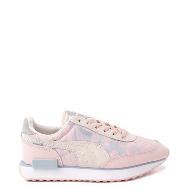 Main view of Womens Puma Future Rider Marble Athletic Shoe - Lotus / Ivory Glow