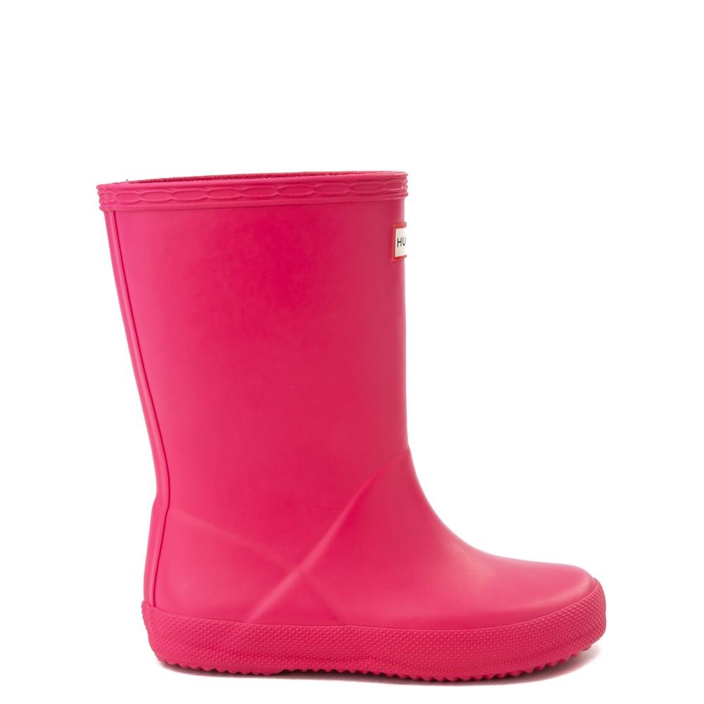 Hunter Original Kids First Classic Rain Boot - Toddler / Little Kid - Bright Pink
