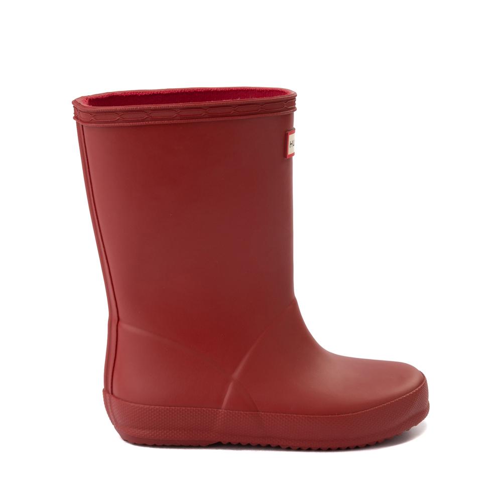 Hunter Original Kids First Classic Rain Boot - Toddler / Little Kid - Military Red