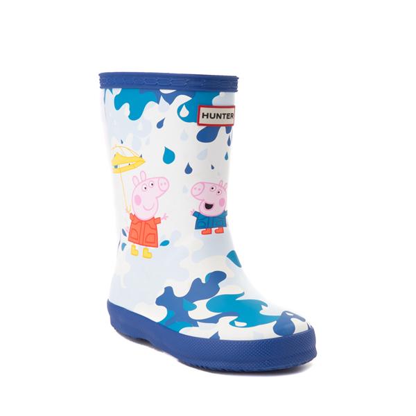 alternate view Hunter x Peppa Pig Kids First Muddy Puddles Rain Boot - Toddler / Little Kid - Dragonfly BlueALT5