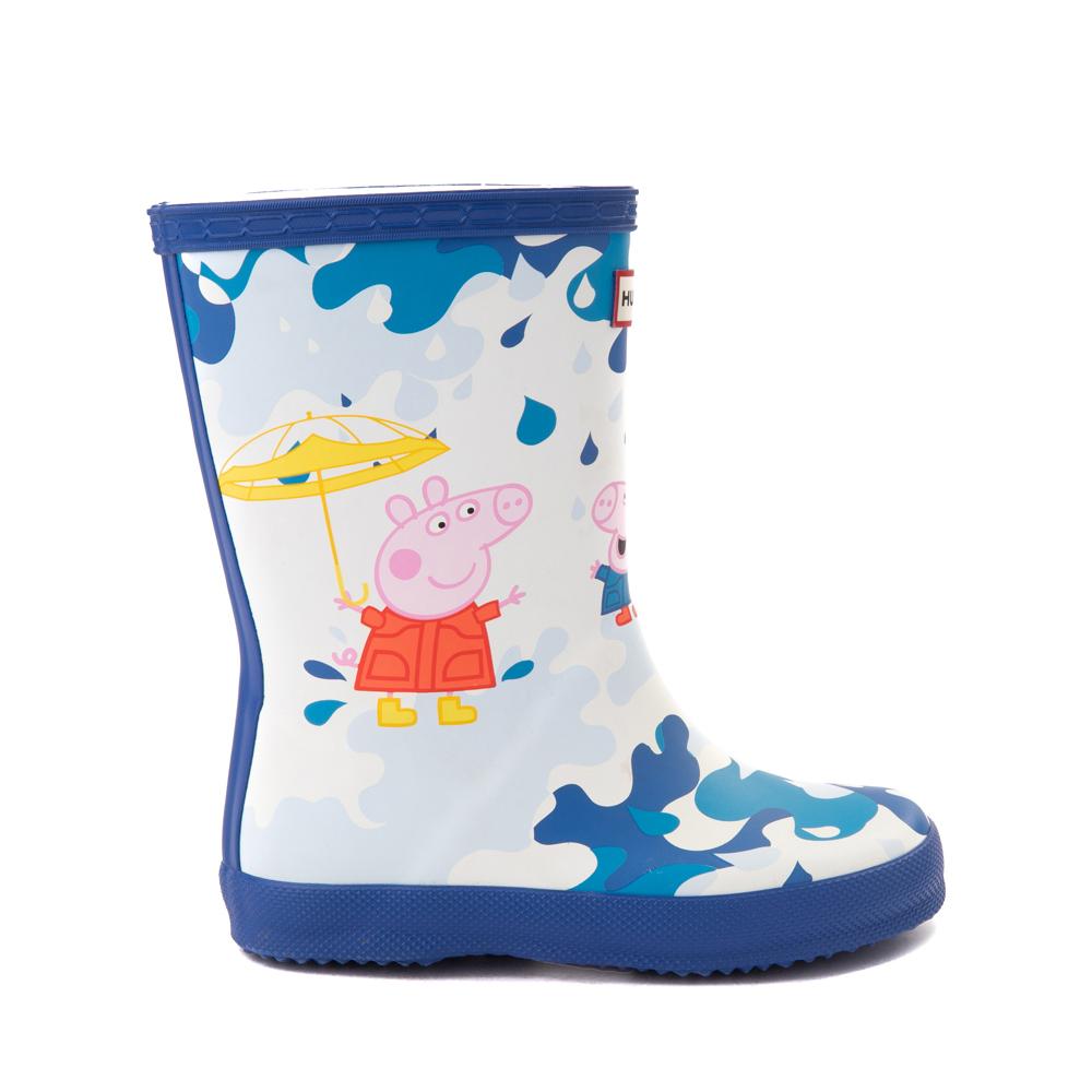 Hunter x Peppa Pig Kids First Muddy Puddles Rain Boot - Toddler / Little Kid - Dragonfly Blue