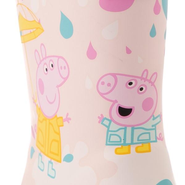 alternate view Hunter x Peppa Pig Kids First Muddy Puddles Rain Boot - Toddler / Little Kid - Rose Metal PinkALT2B
