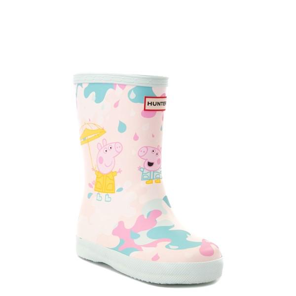 alternate view Hunter x Peppa Pig Kids First Muddy Puddles Rain Boot - Toddler / Little Kid - Rose Metal PinkALT5