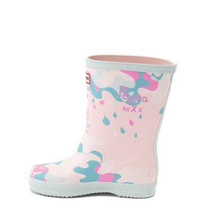 Alternate view of Hunter x Peppa Pig Kids First Muddy Puddles Rain Boot - Toddler / Little Kid - Rose Metal Pink