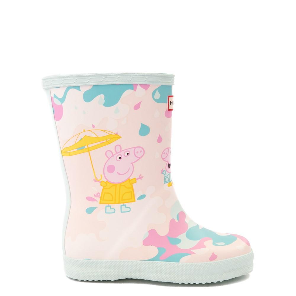 Hunter x Peppa Pig Kids First Muddy Puddles Rain Boot - Toddler / Little Kid - Rose Metal Pink