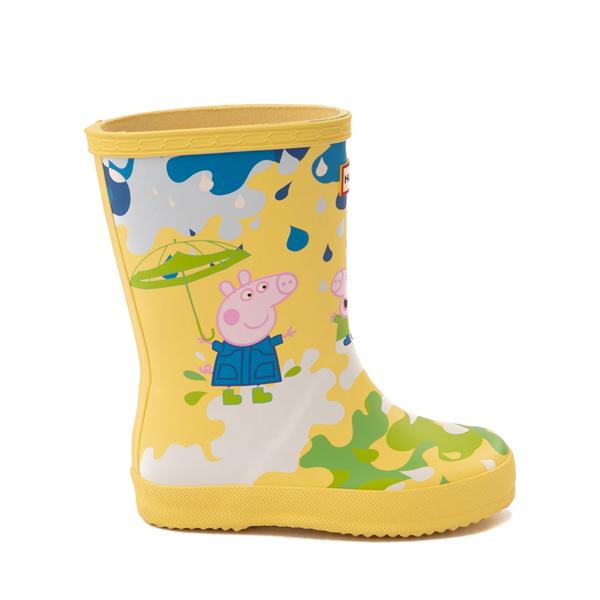 Main view of Hunter x Peppa Pig Kids First Muddy Puddles Rain Boot - Toddler / Little Kid - Yarrow Yellow