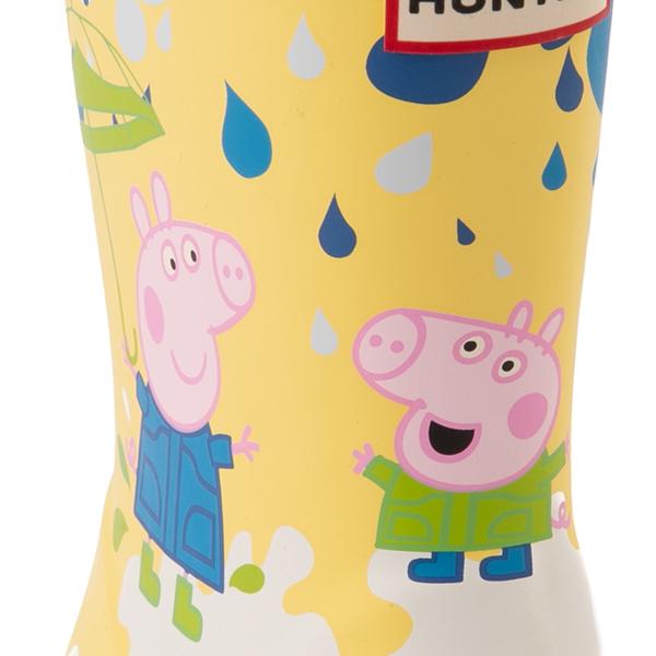 alternate view Hunter x Peppa Pig Kids First Muddy Puddles Rain Boot - Toddler / Little Kid - Yarrow YellowALT2B