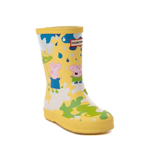 alternate view Hunter x Peppa Pig Kids First Muddy Puddles Rain Boot - Toddler / Little Kid - Yarrow YellowALT5