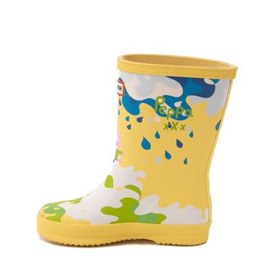 Alternate view of Hunter x Peppa Pig Kids First Muddy Puddles Rain Boot - Toddler / Little Kid - Yarrow Yellow