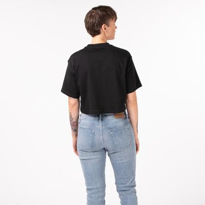 Alternate view of Womens Reebok Classic Big Logo Crop Tee - Black