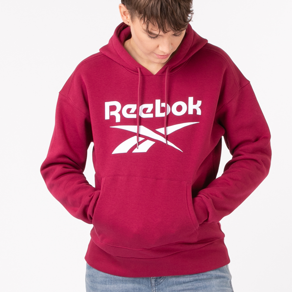 Main view of Womens Reebok Identity Logo Hoodie - Punch Berry