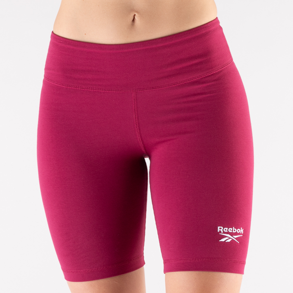 alternate view Womens Reebok Identity Fitted Shorts - Punch BerryALT5