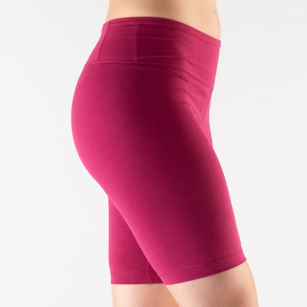 alternate view Womens Reebok Identity Fitted Shorts - Punch BerryALT5C