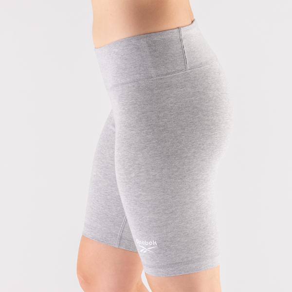 alternate view Womens Reebok Identity Fitted Shorts - Heather GrayALT1