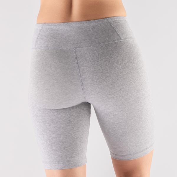 alternate view Womens Reebok Identity Fitted Shorts - Heather GrayALT5B