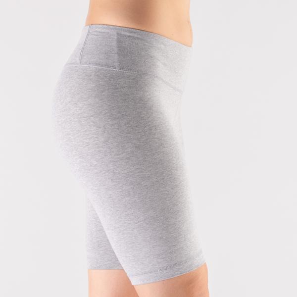 alternate view Womens Reebok Identity Fitted Shorts - Heather GrayALT5C