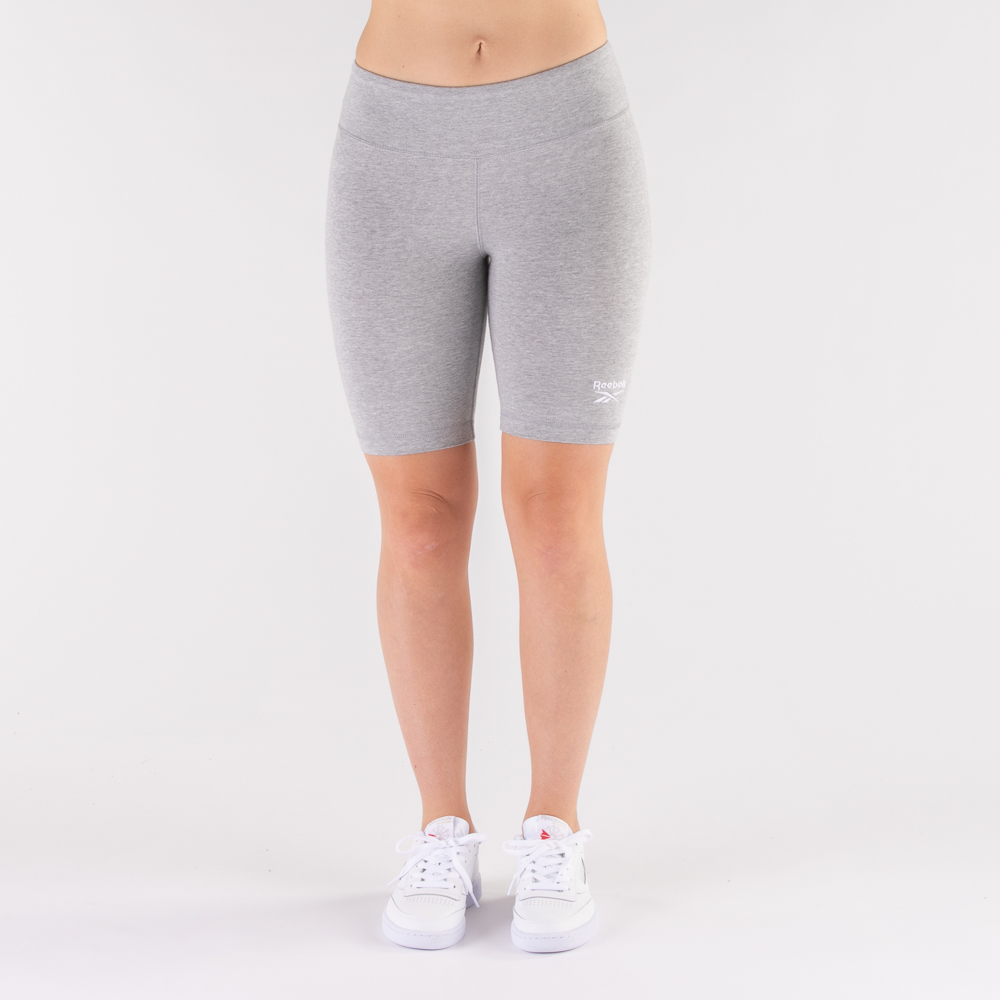 Womens Reebok Identity Fitted Shorts - Heather Gray