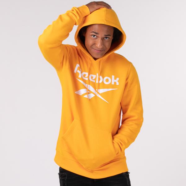 Main view of Mens Reebok Identity Logo Hoodie - Semi Solar Gold
