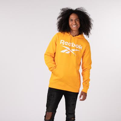 Alternate view of Mens Reebok Identity Logo Hoodie - Semi Solar Gold