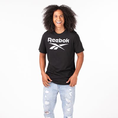 Alternate view of Mens Reebok Graphic Series Stacked Tee - Black