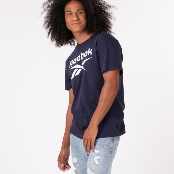 Mens Reebok Graphic Series Stacked Tee - Navy
