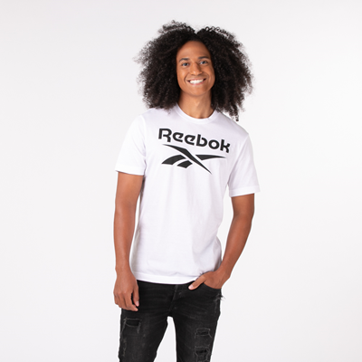 Alternate view of Mens Reebok Graphic Series Stacked Tee - White