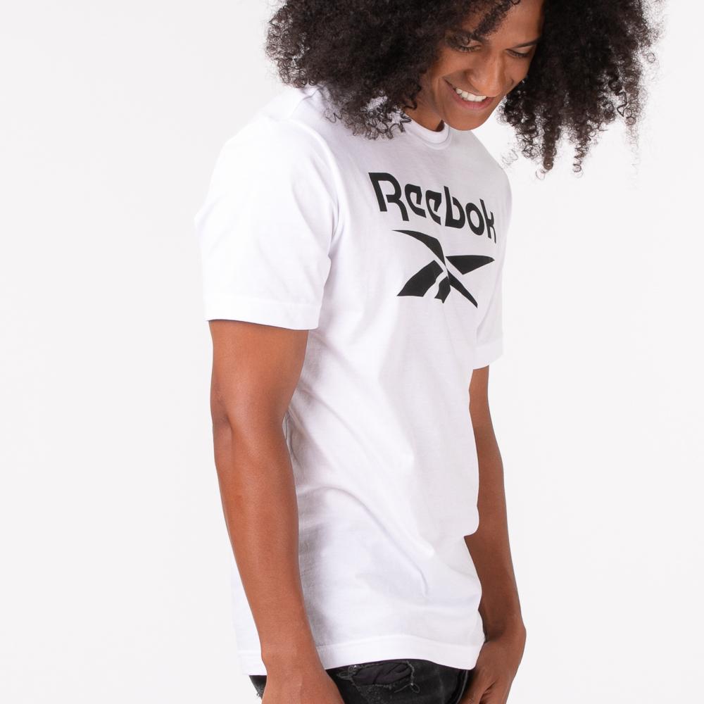 Mens Reebok Graphic Series Stacked Tee - White