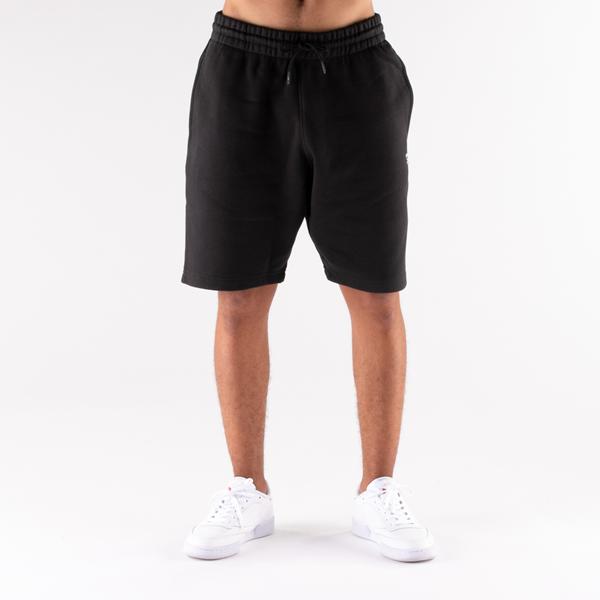alternate view Mens Reebok Identity Fleece Shorts - BlackALT4